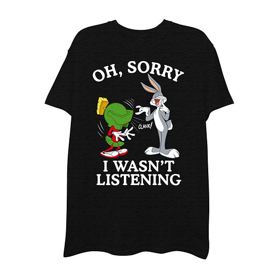 Mens Crew Neck Short Sleeve Looney Tunes Graphic T-Shirt