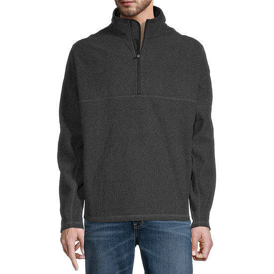 Free Country Bedrock Mens Mock Neck Long Sleeve Quarter-Zip Pullover