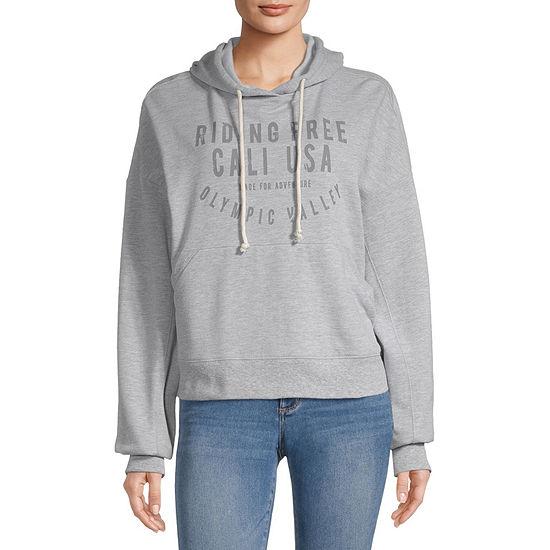Flirtitude-Juniors Womens Long Sleeve Fleece Hoodie