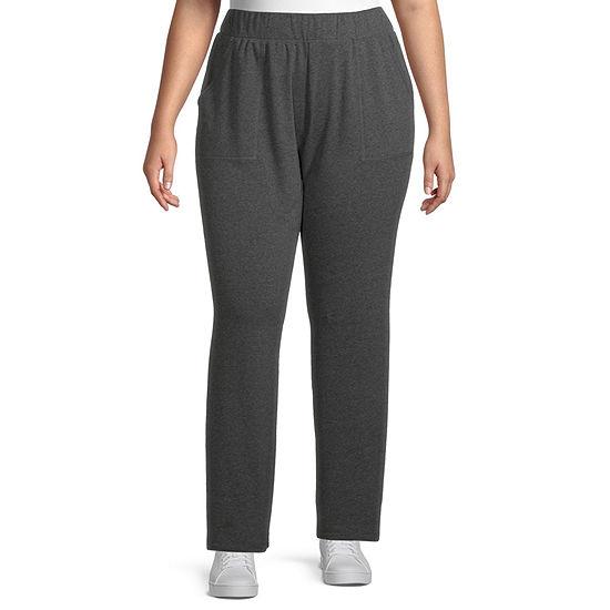 St. John's Bay Womens Mid Rise Slim Pant-Plus
