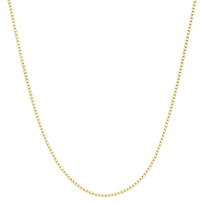 "Made in Italy 14K Yellow Gold 16"" Box Chain Necklace"
