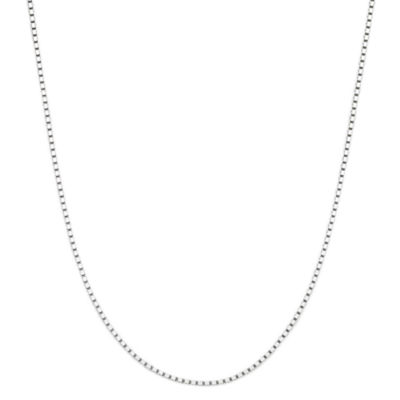 "Made in Italy 14K White Gold 18"" Box Chain Necklace"