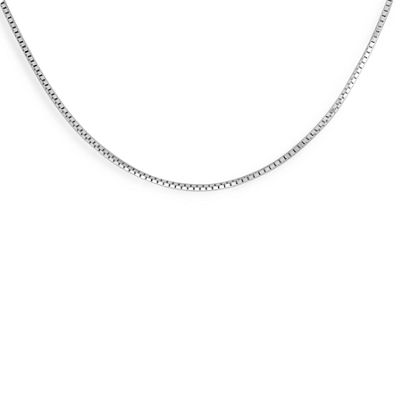 Made in Italy Sterling Silver 16 Inch Solid Box Chain Necklace