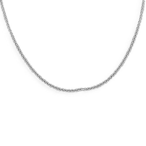 """Made in Italy Sterling Silver 24"""" Wheat Chain"""
