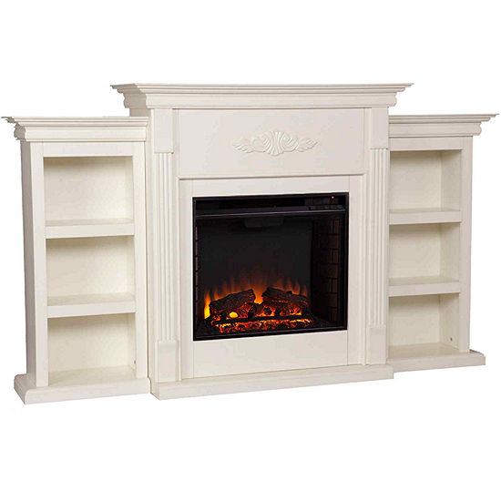 Killian Electric Fireplace with Bookcases