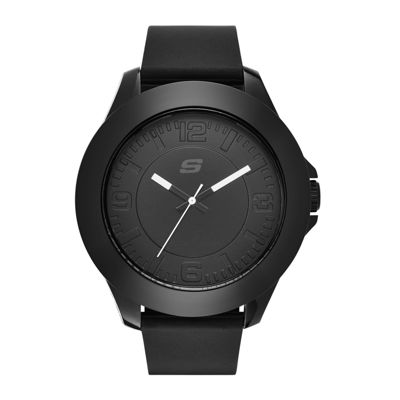 Skechers® Men's Black Silicone Strap Analog Watch