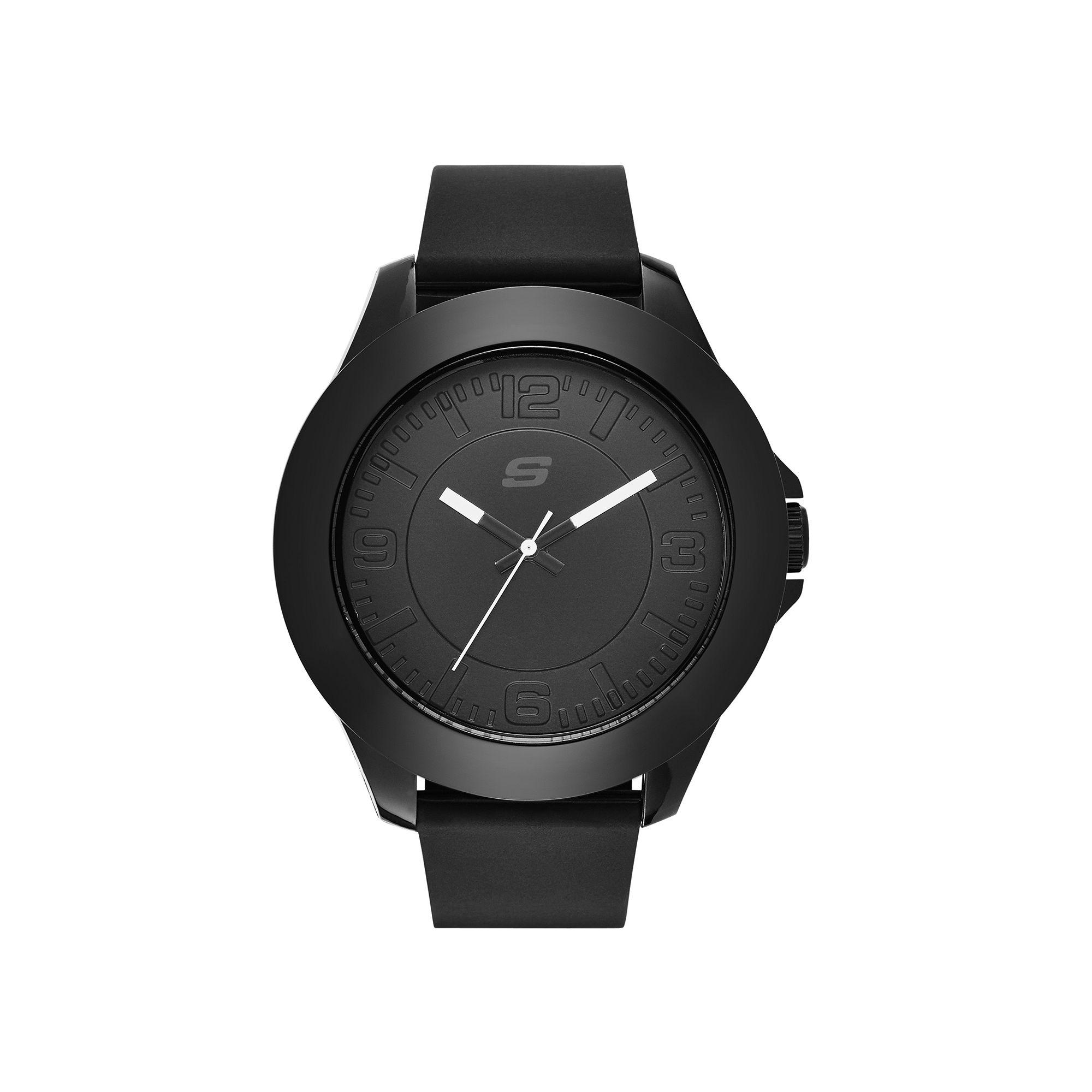 Skechers Men's Black Silicone Strap Analog Watch