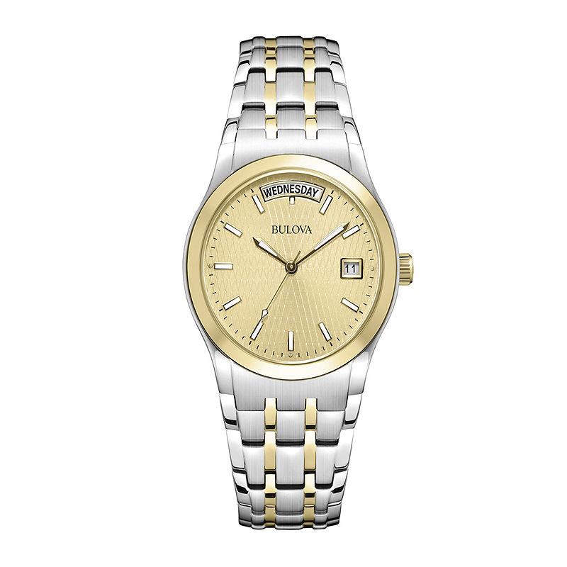Bulova Mens Two-Tone Bracelet Watch 98C60