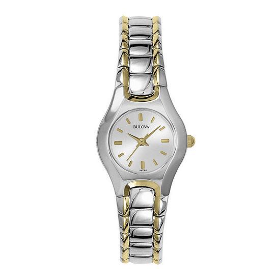 Bulova Classic Womens Two Tone Stainless Steel Bracelet Watch-98t84