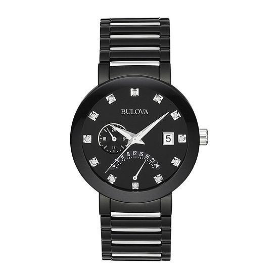 Bulova Futuro Mens Multi-Function Black Stainless Steel Bracelet Watch-98d109