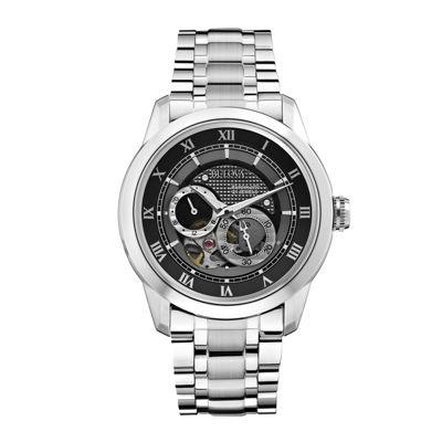 Bulova® Mens Silver-Tone Watch 96A119