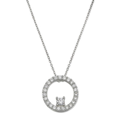 Sparkle Allure™ Cubic Zirconia Circle Pendant Necklace