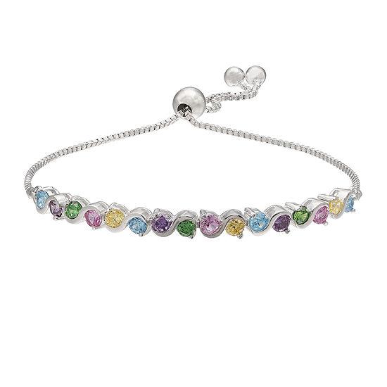 Sparkle Allure™ Cubic Zirconia Silver-Plated Bracelet