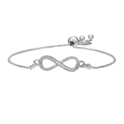Sparkle Allure™ Pavé Cubic Zirconia Silver-Plated Bracelet