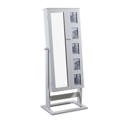 White Cheval Photo Jewelry Armoire