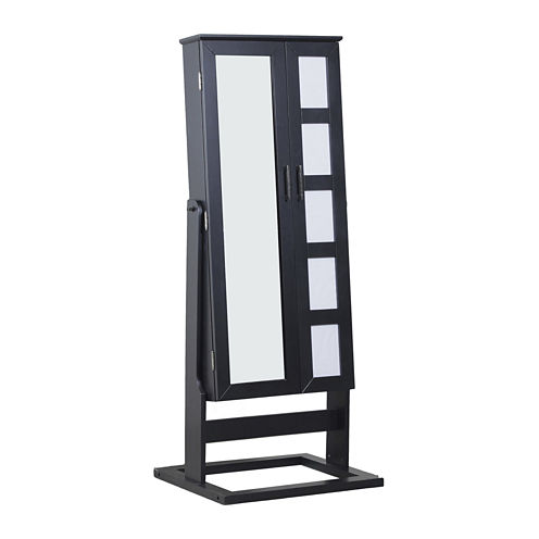 Black Cheval Photo Jewelry Armoire
