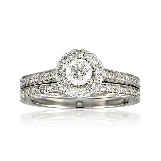 LIMITED QUANTITIES 1-1/0 CT. T.W. Diamond Bridal Ring Set