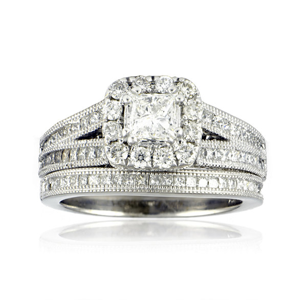LIMITED QUANTITIES 1¾ CT. T.W. Diamond Bridal Ring Set
