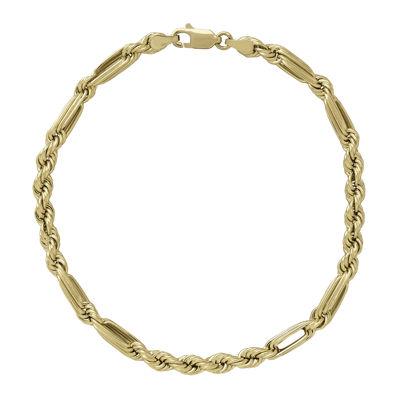"14K Yellow Gold 8"" Milano Hollow Chain Bracelet"