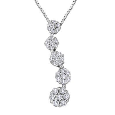 diamond blossom ⅓ CT. T.W. Diamond Pendant Necklace