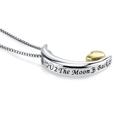 Inspired Moments™ Sterling Silver Love You to the Moon Pendant Necklace