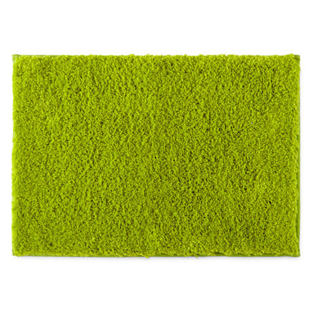 JCPenney Home Drylon Microfiber Bath Rug Collection, One Size , Green
