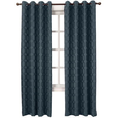 Sun Zero™ Tron Blackout Grommet-Top Curtain Panel