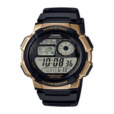 Casio Table Mens Black Strap Watch-Ae1000w1a3pb