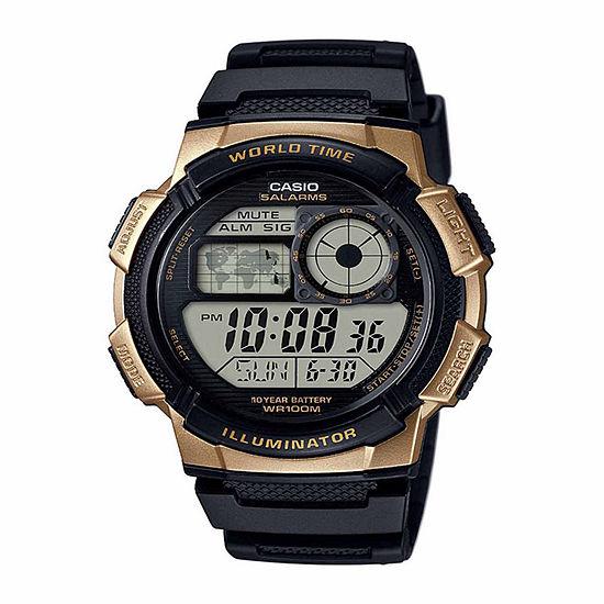Casio Mens Digital Black Strap Watch-Ae1000w1a3pb