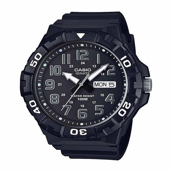 Casio Table Mens Black Strap Watch Mrw210h 1apb