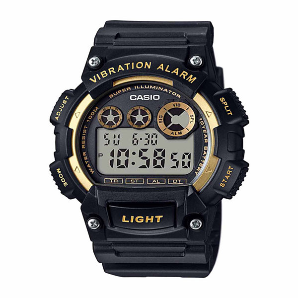 Casio Table Mens Black Strap Watch-W735h-1a2vpb
