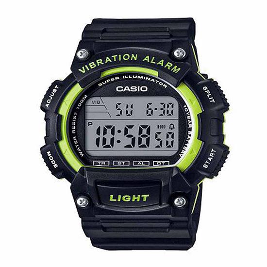 Casio Mens Black Strap Watch-W736h-3avpb