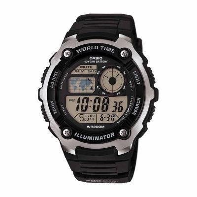 Casio Table Mens Black Strap Watch-Ae2100w-1aos