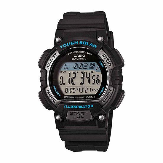 Casio Womens Digital Black Strap Watch-Stls300h1apb
