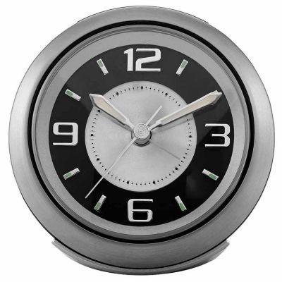 Bulova Silver Alarm Clock-B5027