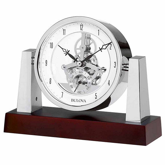 Bulova Largo Dark Mahogany Finish Table Clock B7520