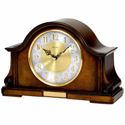 Bulova White Mantel Clock-B1975