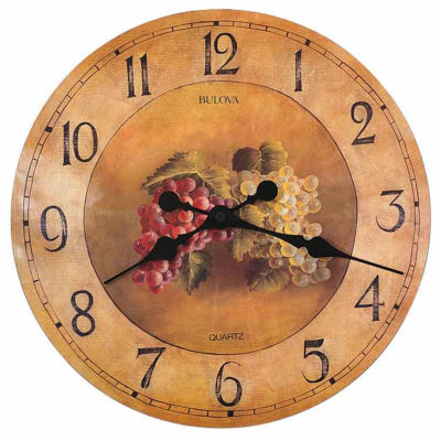 Bulova Yellow Wall Clock-C3260