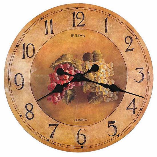 Bulova Yellow Wall Clock-C3260