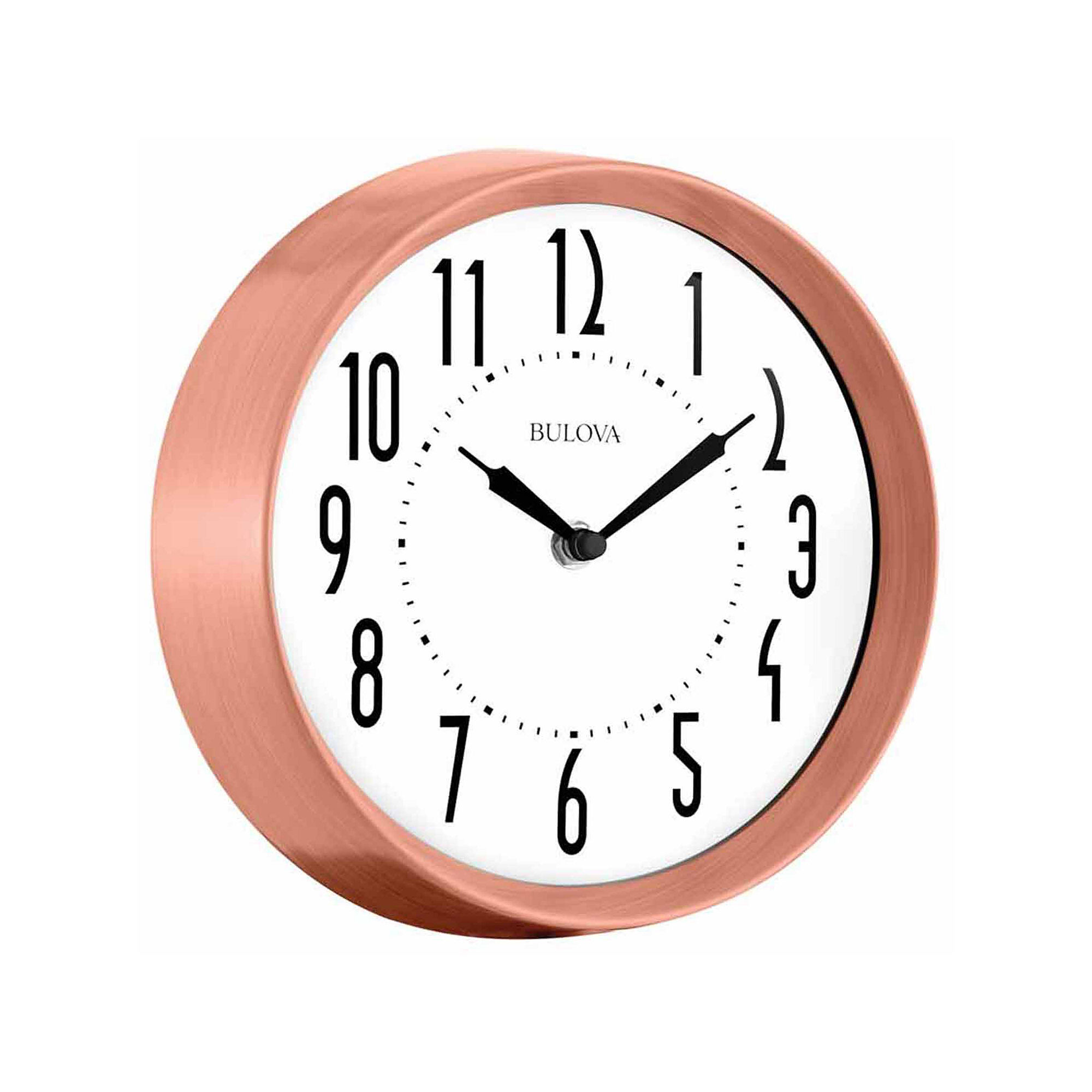 Bulova Cleaver White Wall Clock-C4828