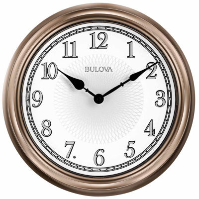 Bulova White Wall Clock-C4826