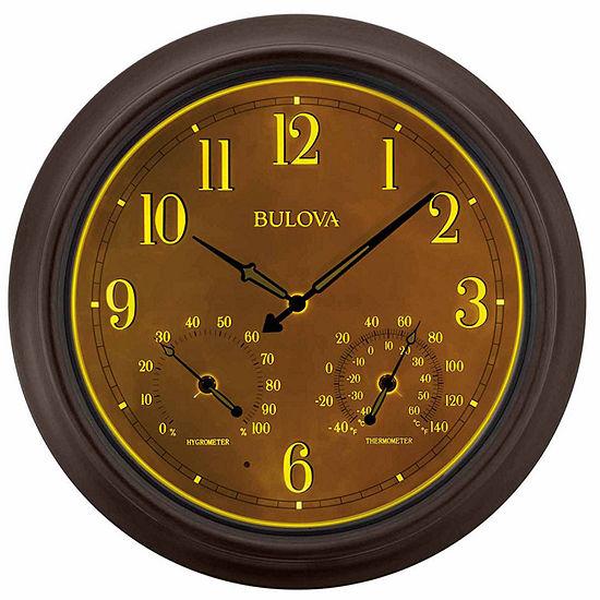 Bulova Brown Wall Clock-C4813