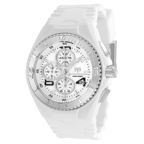 Techno Marine Womens White Strap Watch-Tm-115293