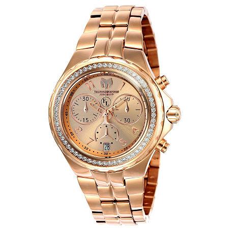 Techno Marine Womens Rose Goldtone Stainless Steel Bracelet Watch - Tm-416032, One Size