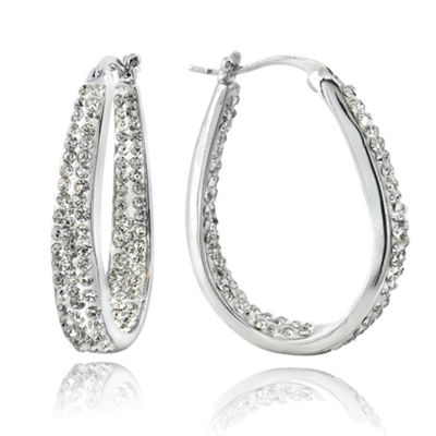 Sparkle Allure Hoop Earrings