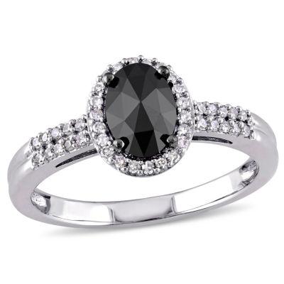 Midnight Black Diamond 1 CT. T.W. 14K White Gold Diamond Bridal Ring