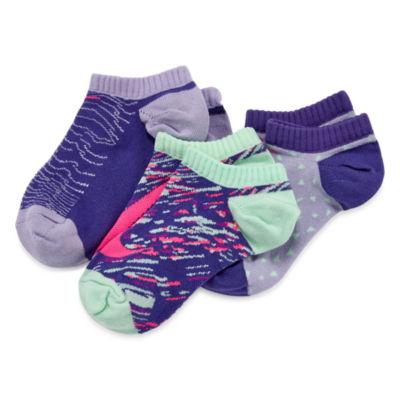 Nike Girls 3-pc. No Show Socks