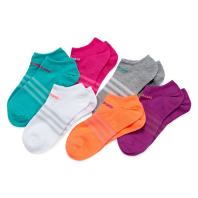 Adidas Girls 6-pc. No Show Socks-Big Kid