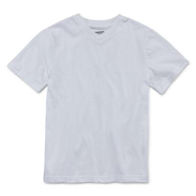 Arizona Short-Sleeve Solid V-Neck T-Shirt Boys 8-20