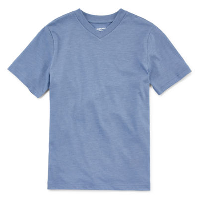 Arizona Short-Sleeve Solid V-Neck T-Shirt Boys 8-20